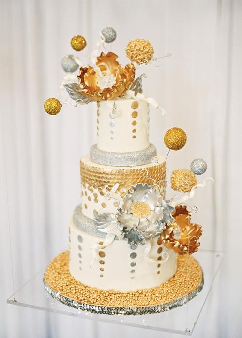gold silver and white baby shower google search baby shower cakes