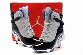 #women jordan 6 #rings heels #black white blue