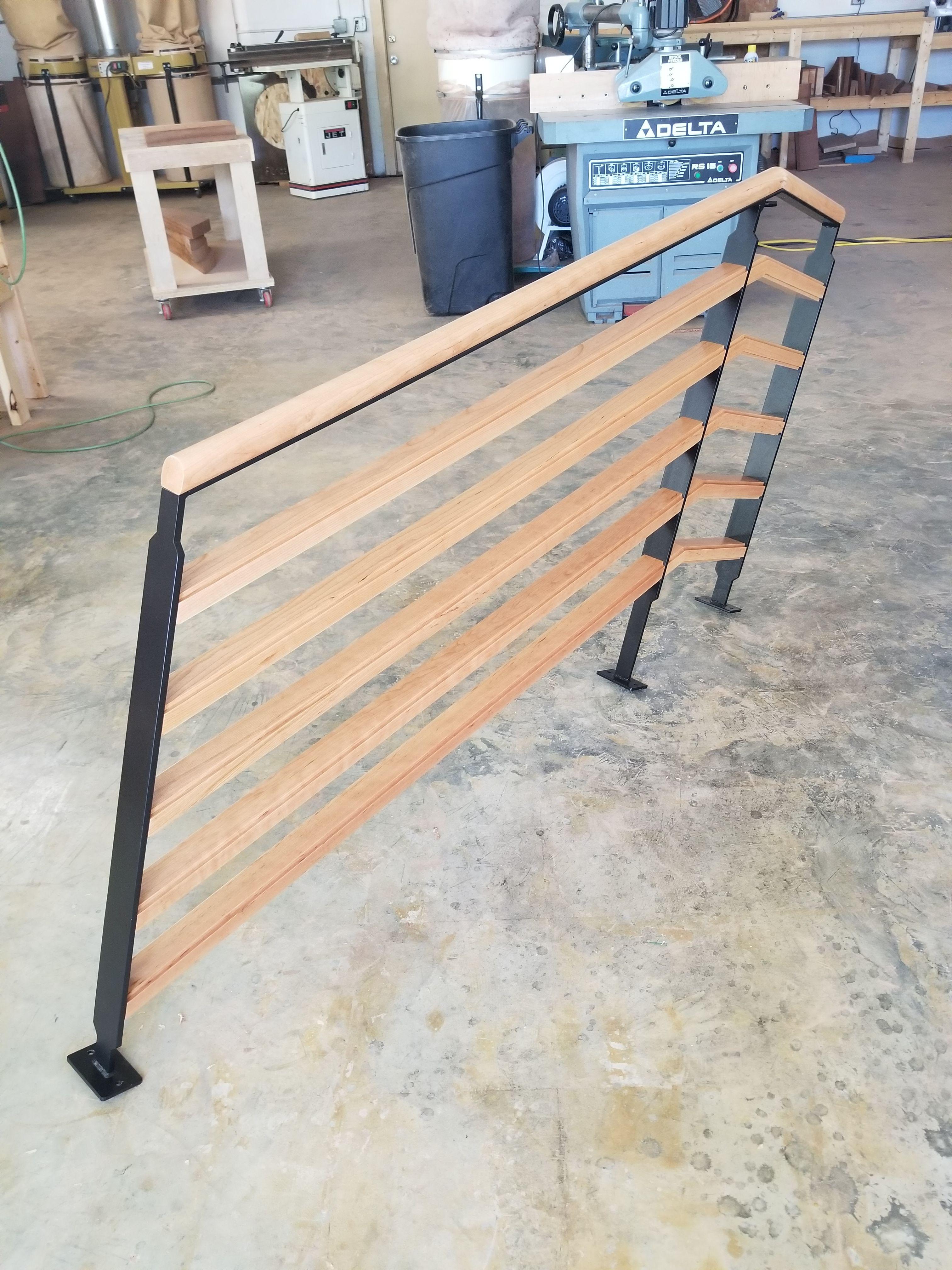 Best Cherry Wrapped Metal Handrail Exterior Doors Custom 400 x 300