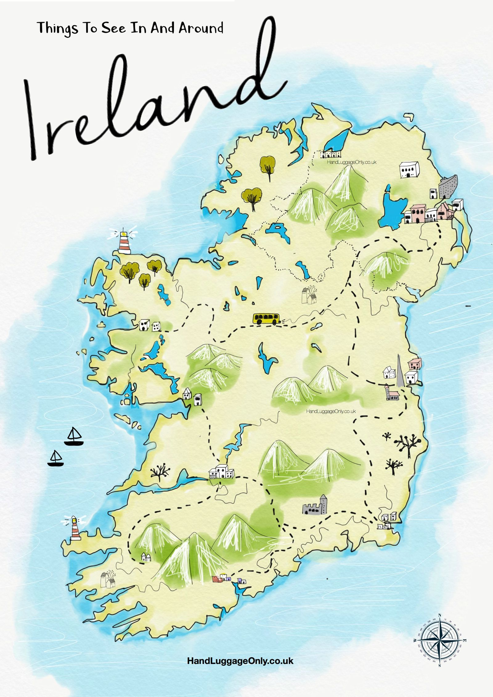 Map Of North And South Ireland.19 Stunning Things To See And Do Across Ireland Ireland Ireland