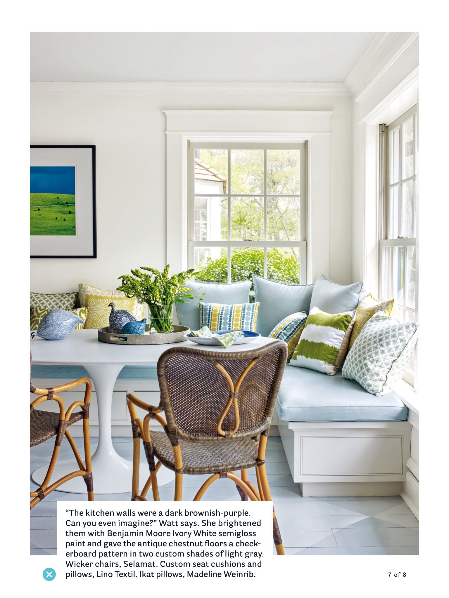 my favorite tulip table oval version in this breakfast nook march 2017 house beautiful page on outdoor kitchen nook id=61464