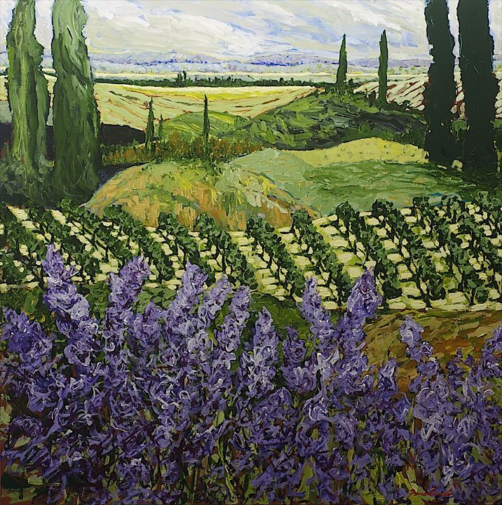 Chinaberry Hill - Allan Friedlander's paintings - Paintings & Prints Landscapes & Nature Fields…   ArtPal thumbnail