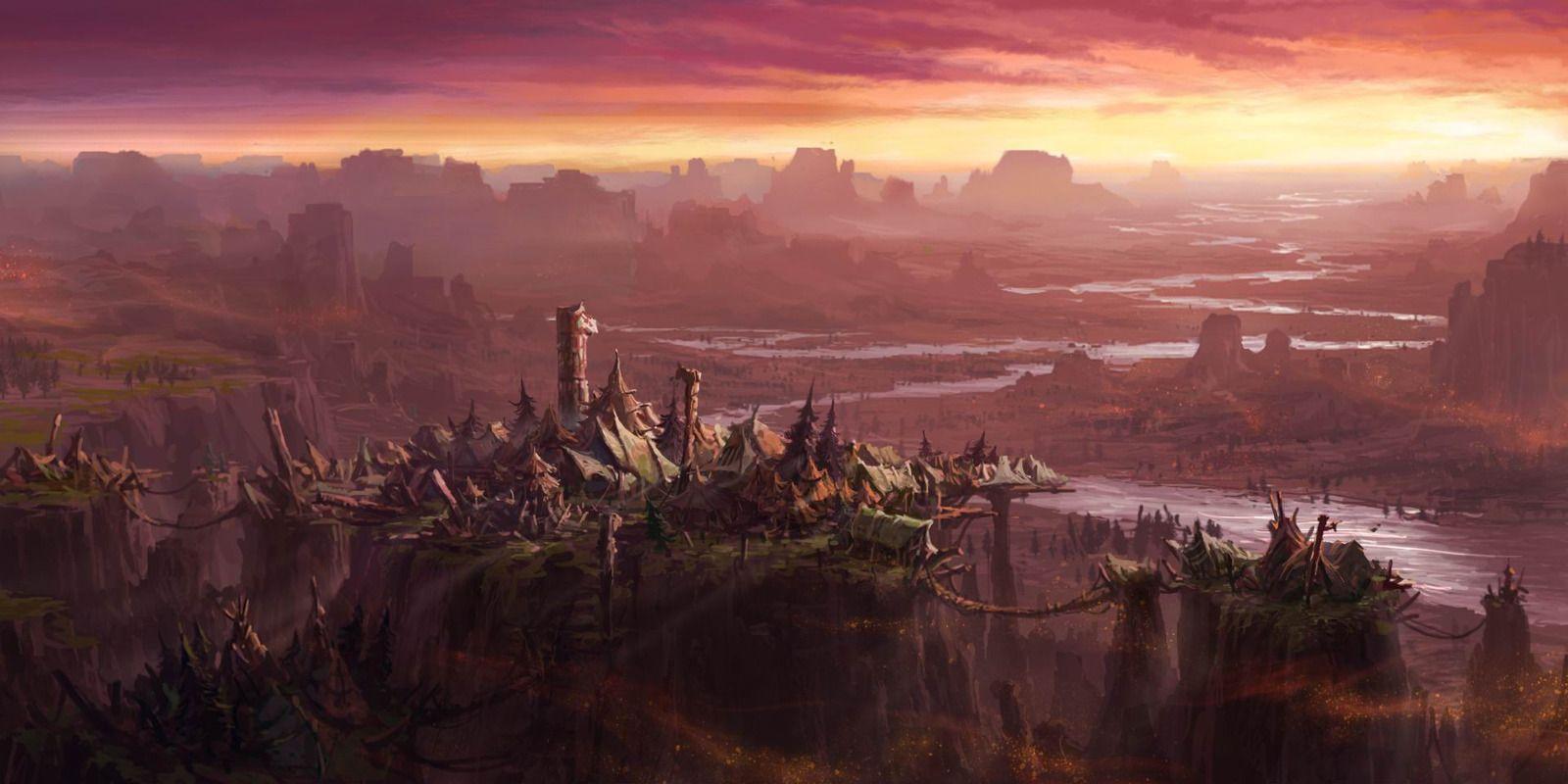 Landscape Computer Wallpapers Desktop Backgrounds 1600x800 Id 400140 Landscape Wallpaper World Of Warcraft Wallpaper Fantasy Landscape