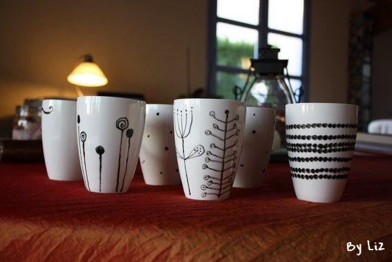 id e diy des mugs personnalis s atelier creatif. Black Bedroom Furniture Sets. Home Design Ideas