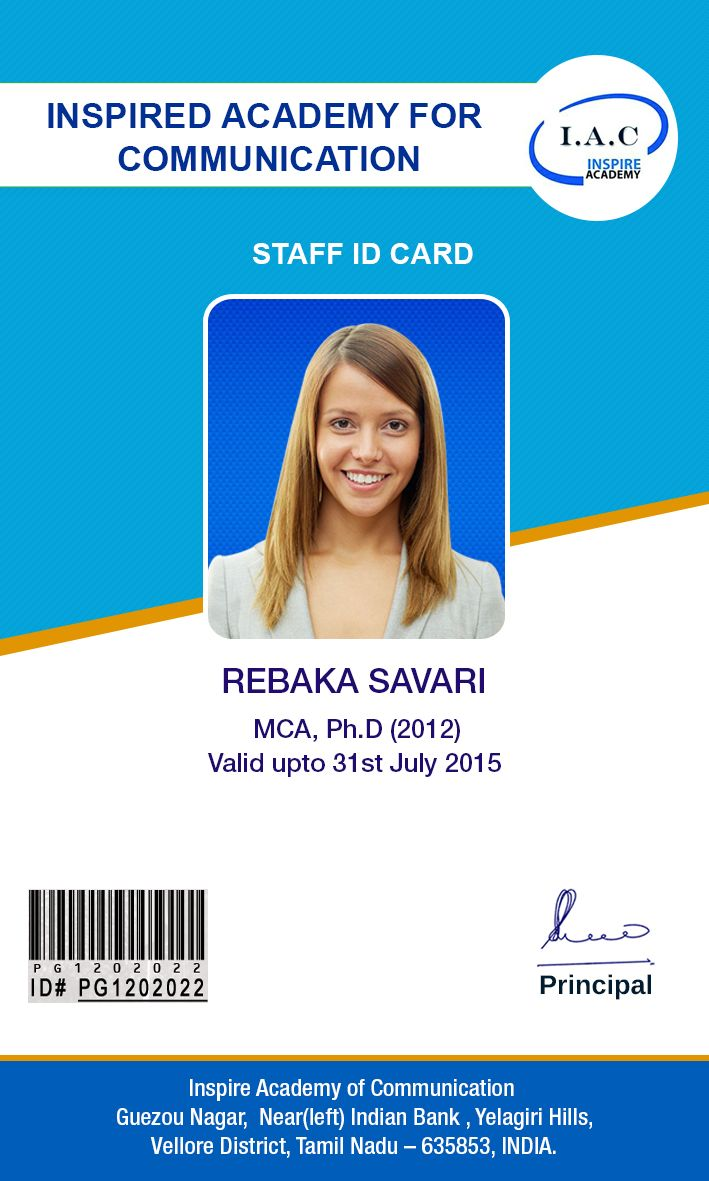Design Cards School Id Cards Card Id Designs