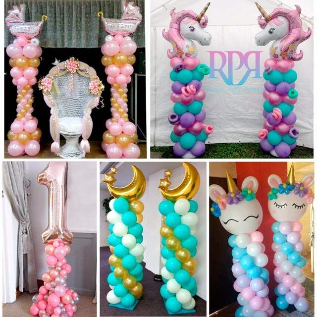 Huiran 2pcs Set Plastic Birthday Party Balloon Column Base Balloon