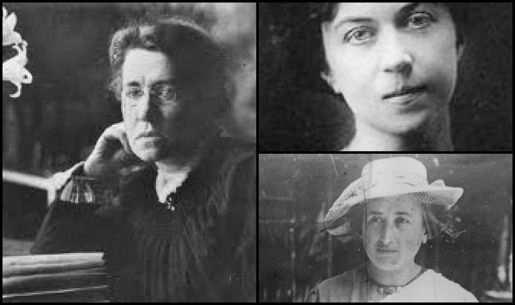 Emma Goldman Alexandra Kollontai E Rosa Luxemburg