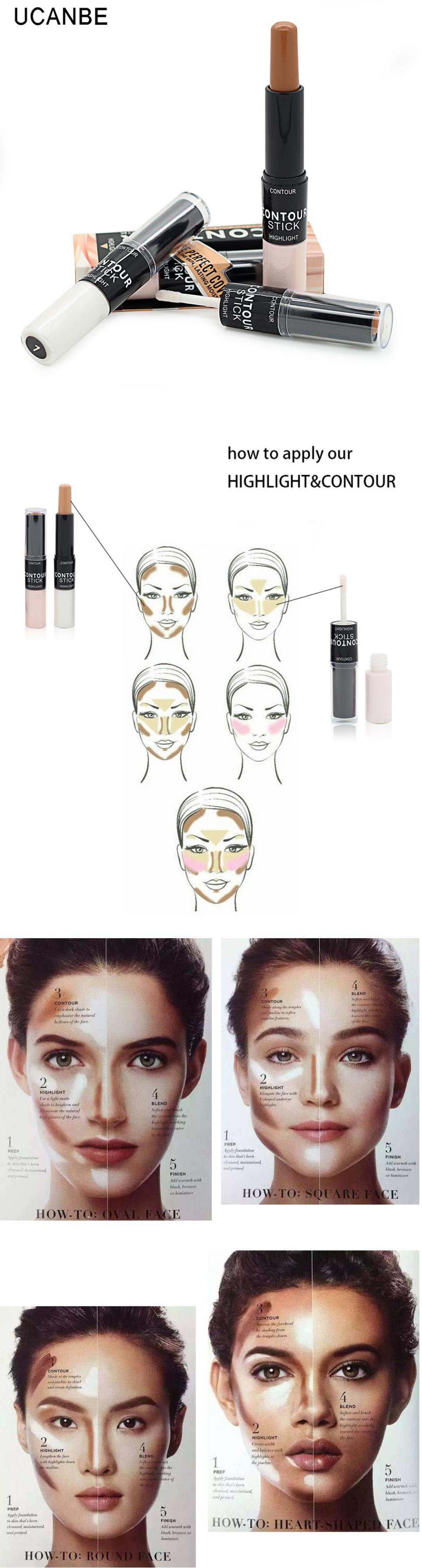 Concealer Contour Cream Stick Shimmer Highlighter Primer