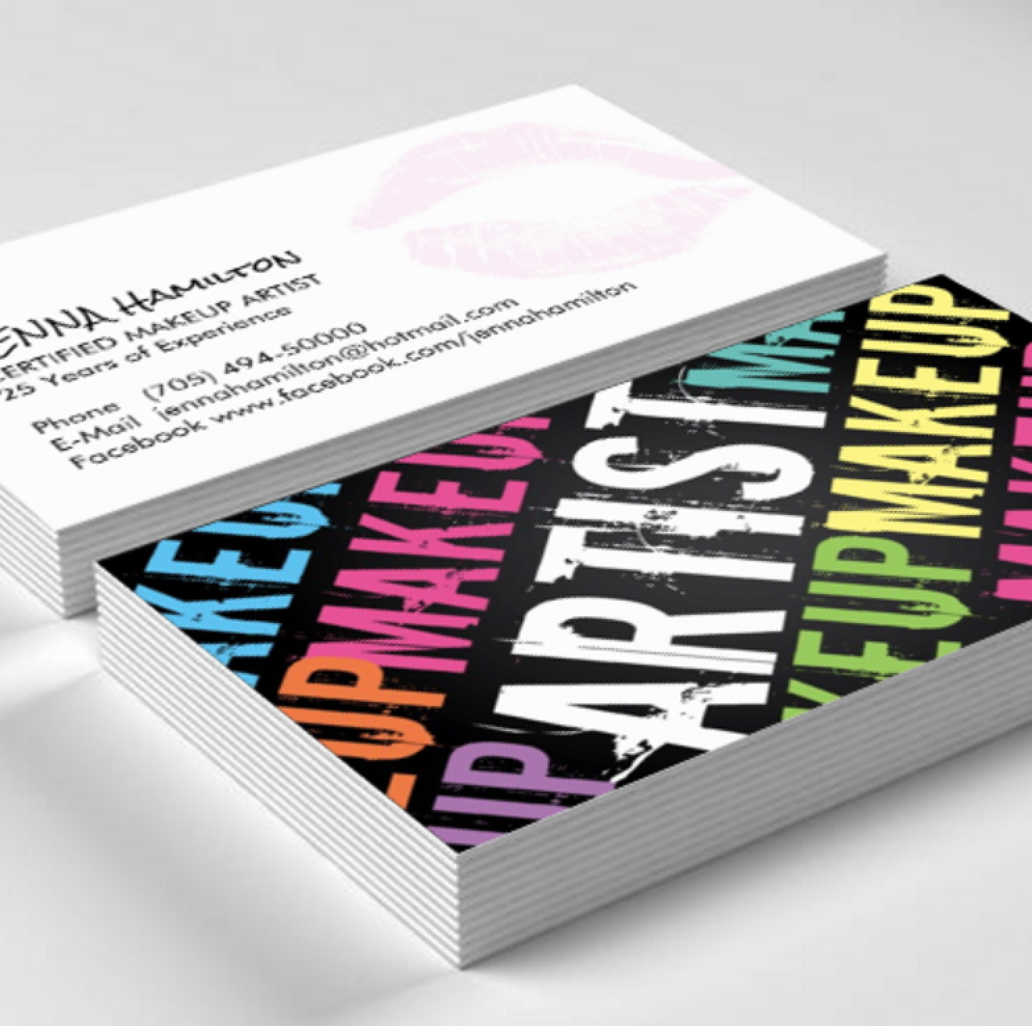 Makeup Artist Business Card Template created by Colourful Designs ...