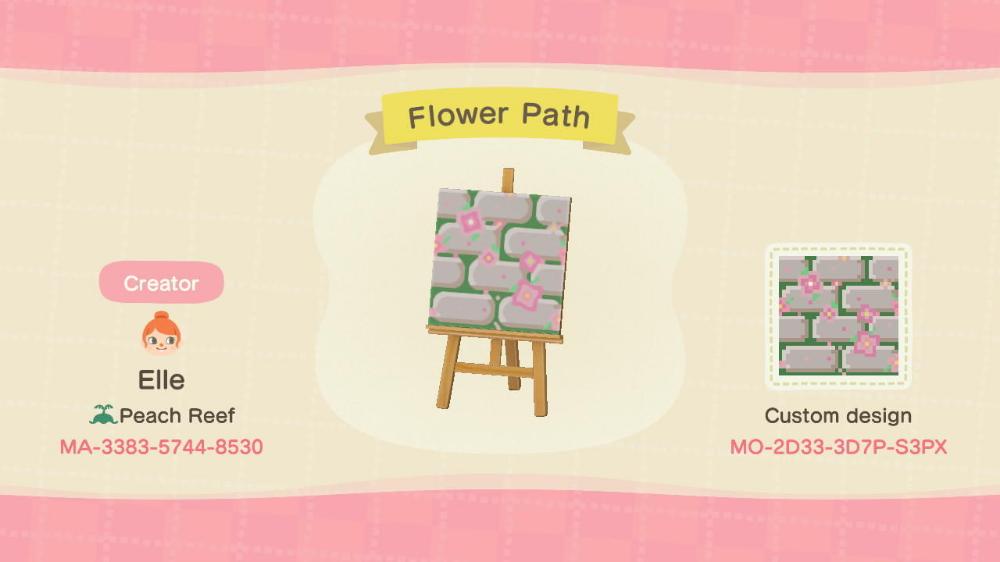 Stone Flower Path Designed By Elle Of Peach Reef Acnh Custom