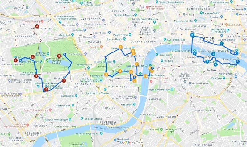 London In A Day Map.3 Days In London Our Perfect 3 Day London Itinerary Travel