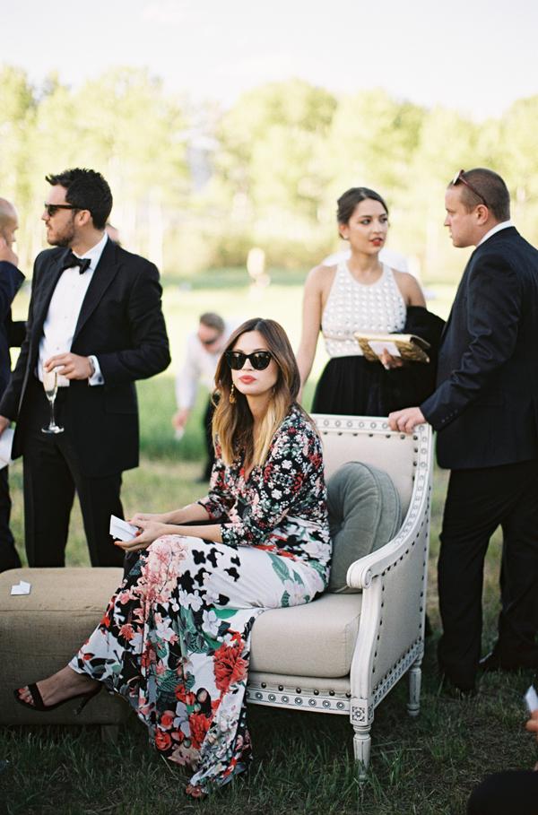 Outdoor Aspen Wedding Real Weddings Oncewed Com Fall Wedding Guest Dress Wedding Attire Guest Wedding Guest Outfit Fall