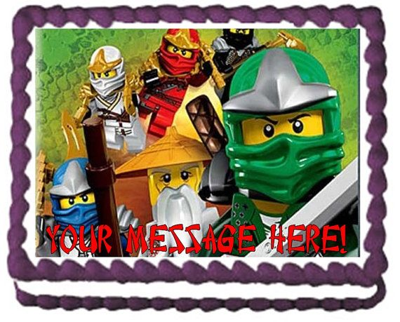 Ninjago Ninjas Edible Cake Topper Image Frosting Sheet