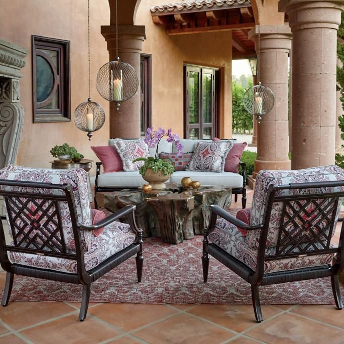 lille hanging hurricane  outdoor living room furniture