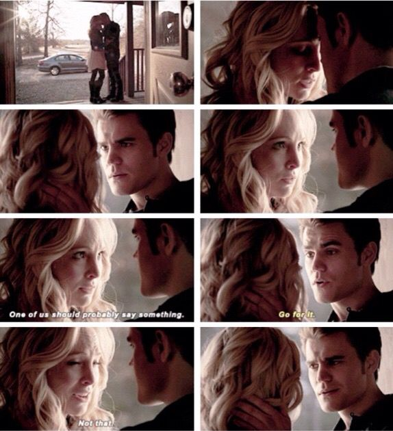 Caroline and Stefan  The Vampire Diaries Season 6 Episode 14
