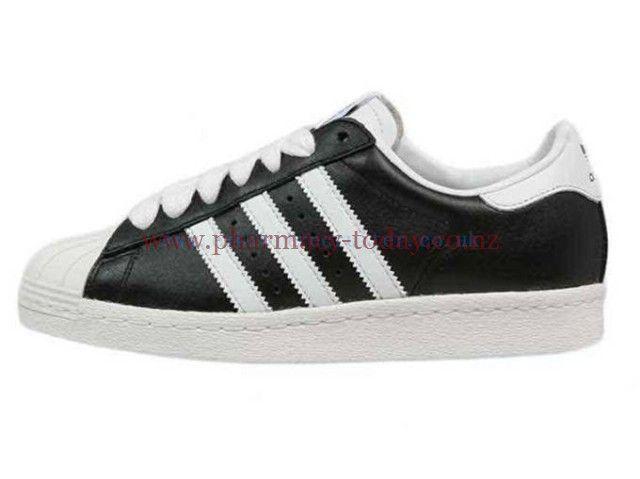adidas Originals Men's Shoes SUPERSTAR 80S NIGO - Trainers - black