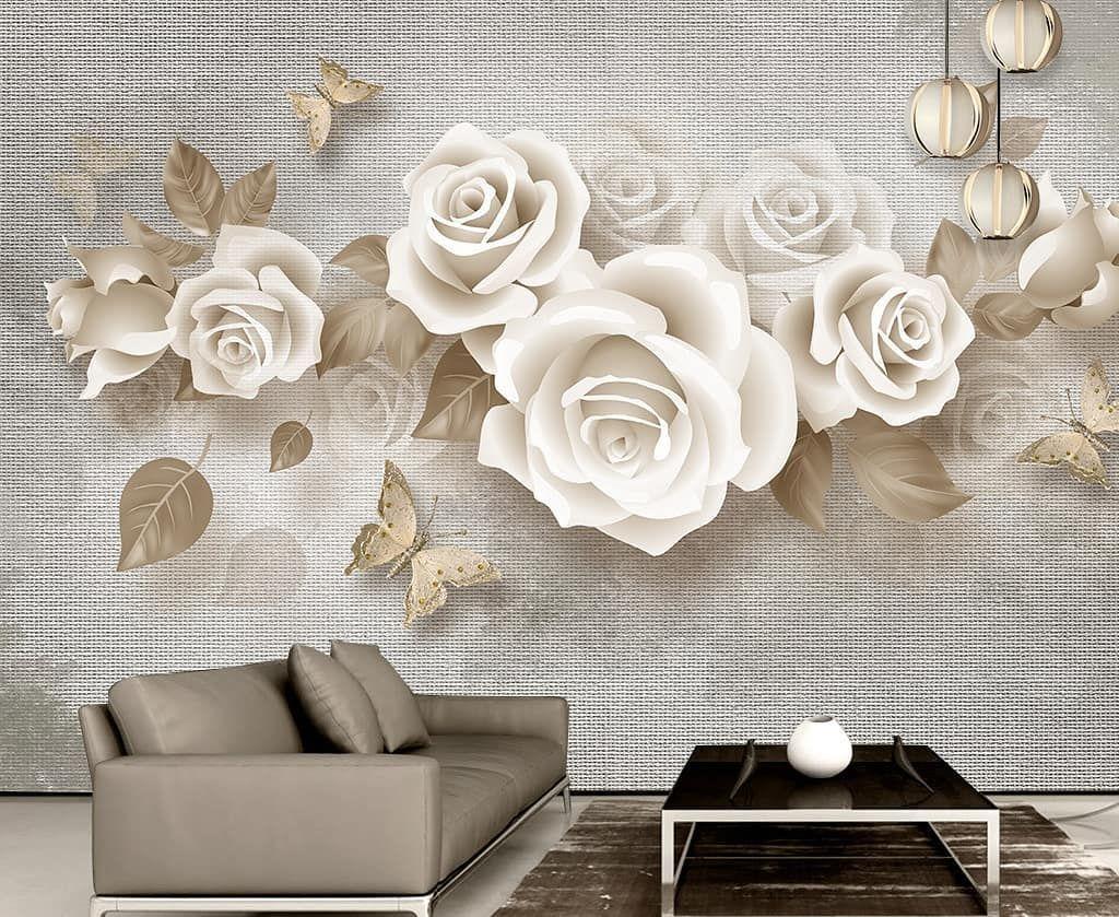 New The 10 Best Home Decor With Pictures ورق جدران ثلاثي الأبعاد خامة ألمانية عالية الجودة مقاومة للرط Floral Wallpaper Yellow Butterfly Mural Wallpaper
