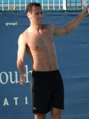 Feliciano Lopez at Miami Open 2010 - Shirtless Men at groopii