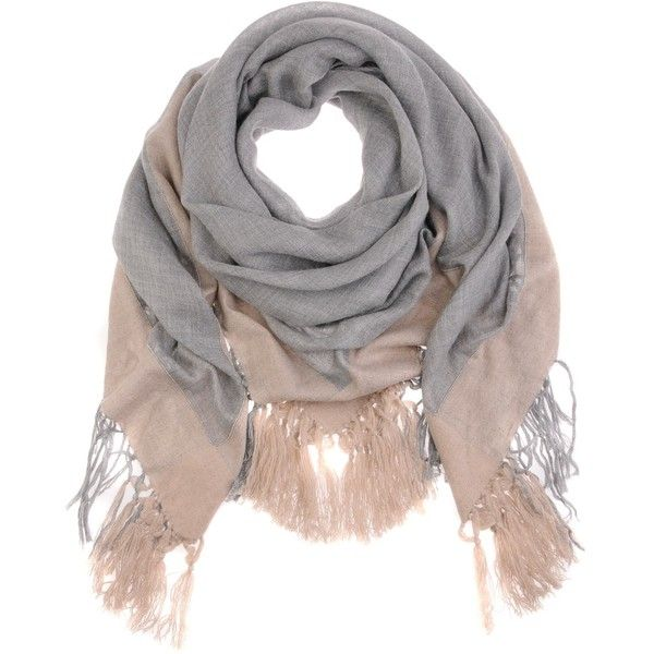 Brunello Cucinelli Grey Taupe Pearl Line Scarf (20 080 UAH) ❤ liked on Polyvore featuring accessories, scarves, women, gray scarves, grey shawl, gray shawl, brunello cucinelli and brunello cucinelli scarves