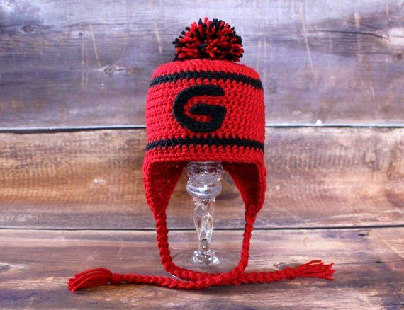 6d61df3e2a94e Georgia Bulldogs Stocking Hat - Newborn 0-3 mo 3-6 mo 6-12 mo Toddler Child  infant earflap hat cap G