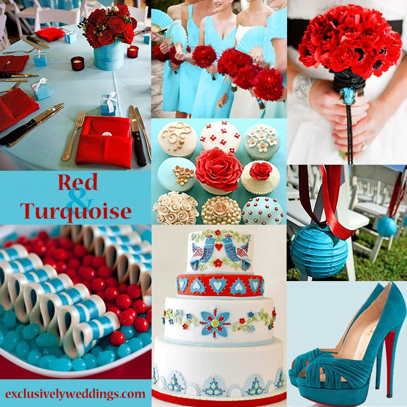 Red Wedding Color – Seven Vibrant Combinations   Red wedding ...