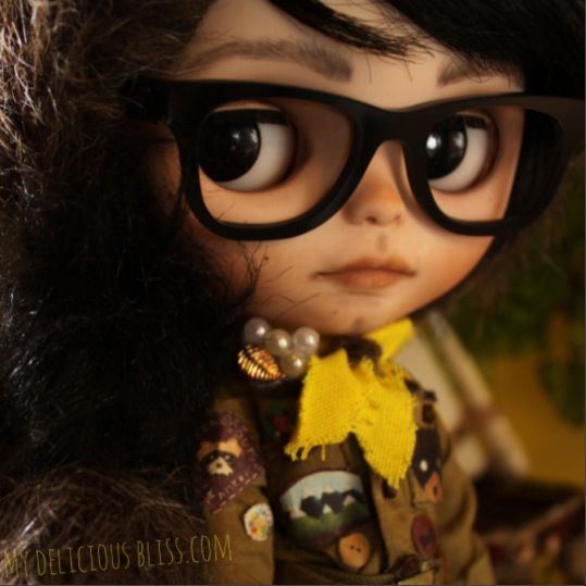 Sam Shakusky | Moonrise Kingdom Custom Blythe Art Doll by My Delicious Bliss. Now on Exhibition at the Junie Moon Gallery in Tokyo, Japan April 22nd - May 16th