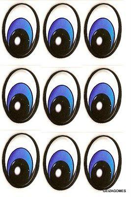 Olhos De Bonecos Para Imprimir Pesquisa Google Molde De Olhos
