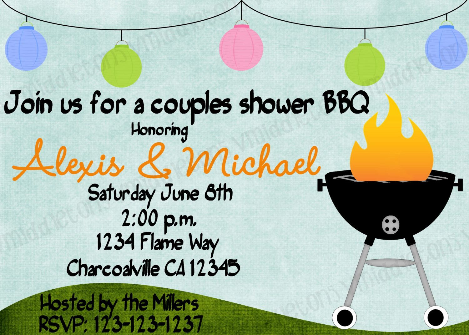 couples bridal wedding shower bbq cookout by vmiddleton5
