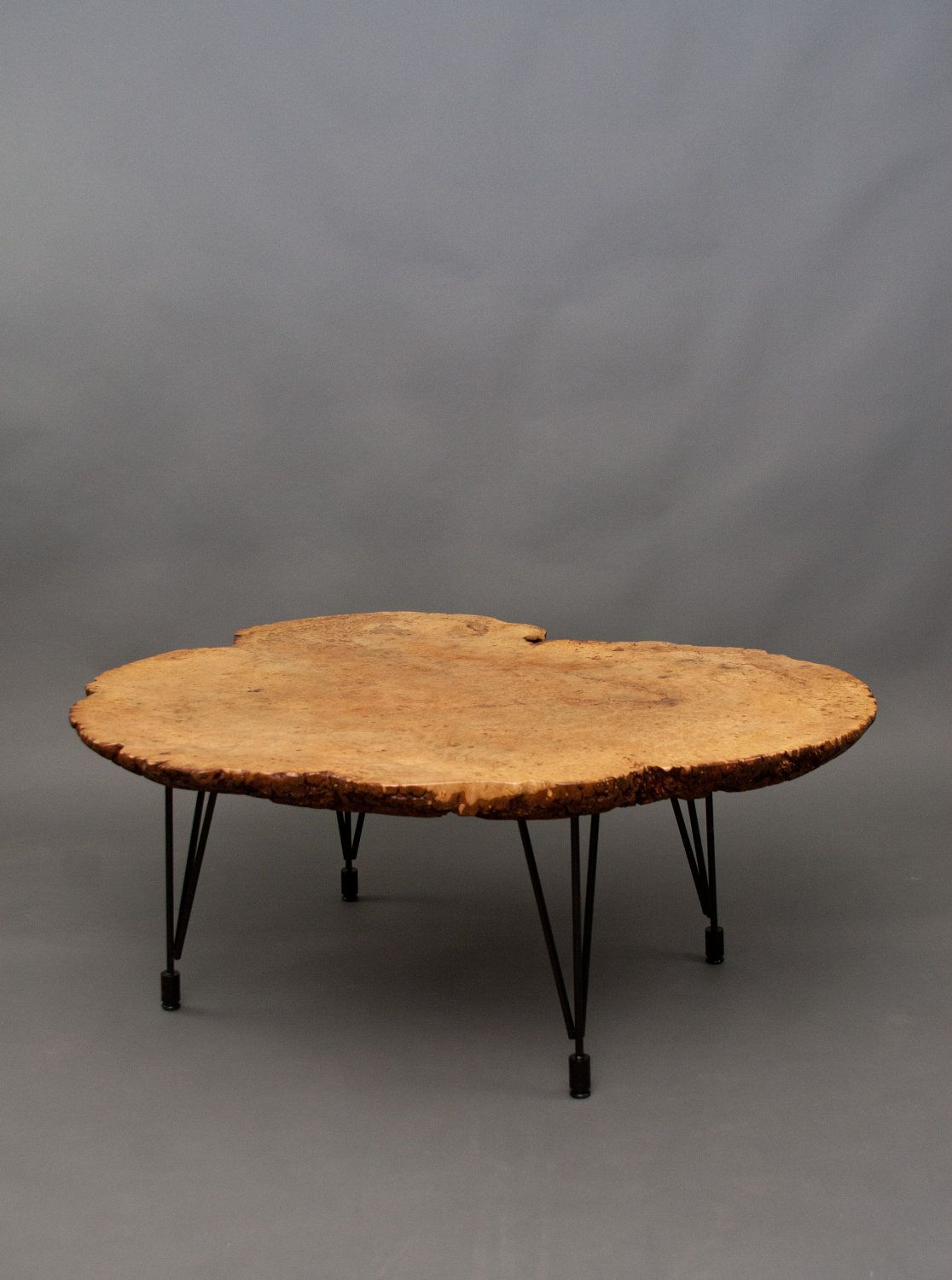 Superbe Maple Burl Round COFFEE TABLE. ElpisWorks: Etsy. Raw Wood Furniture, Maple  Furniture