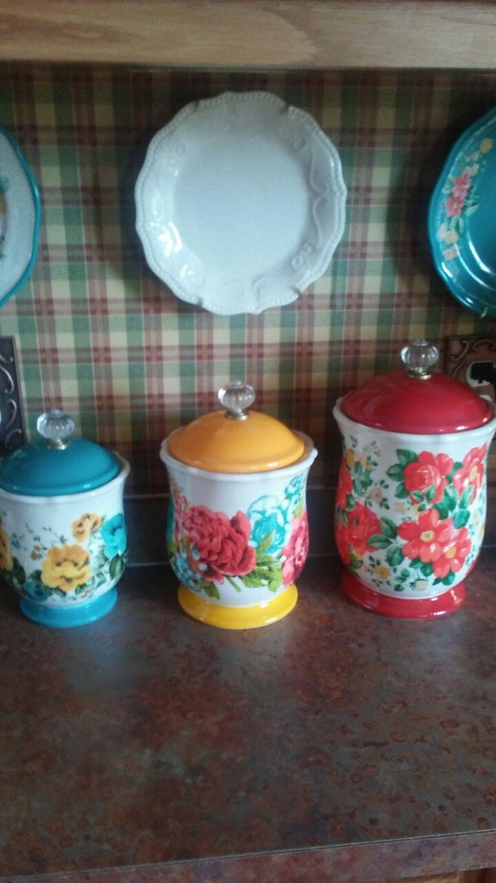 Her Beautiful New Canisters Pioneer Woman Dishes