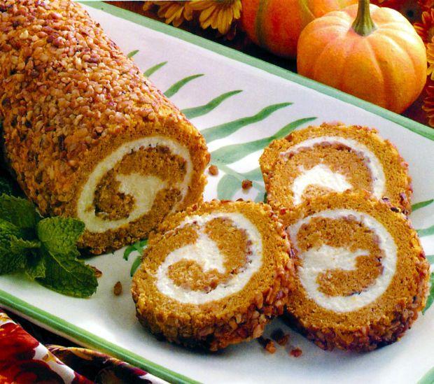 Pumpkin Ice Cream Roll Recipe: Pumpkin-Pecan Cake Roll, Pumpkin Cake In A Jar, Pumpkin