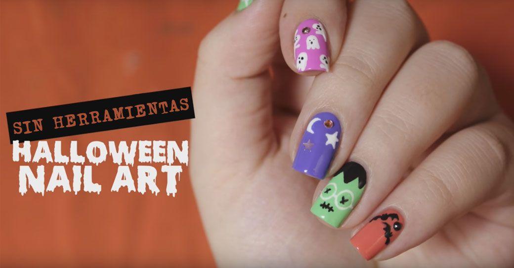 5 diseños de uñas fáciles de Halloween sin herramientas | Decoración ...