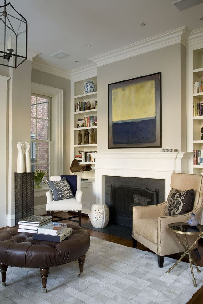 benjamin moore edgecomb gray for a traditional living room