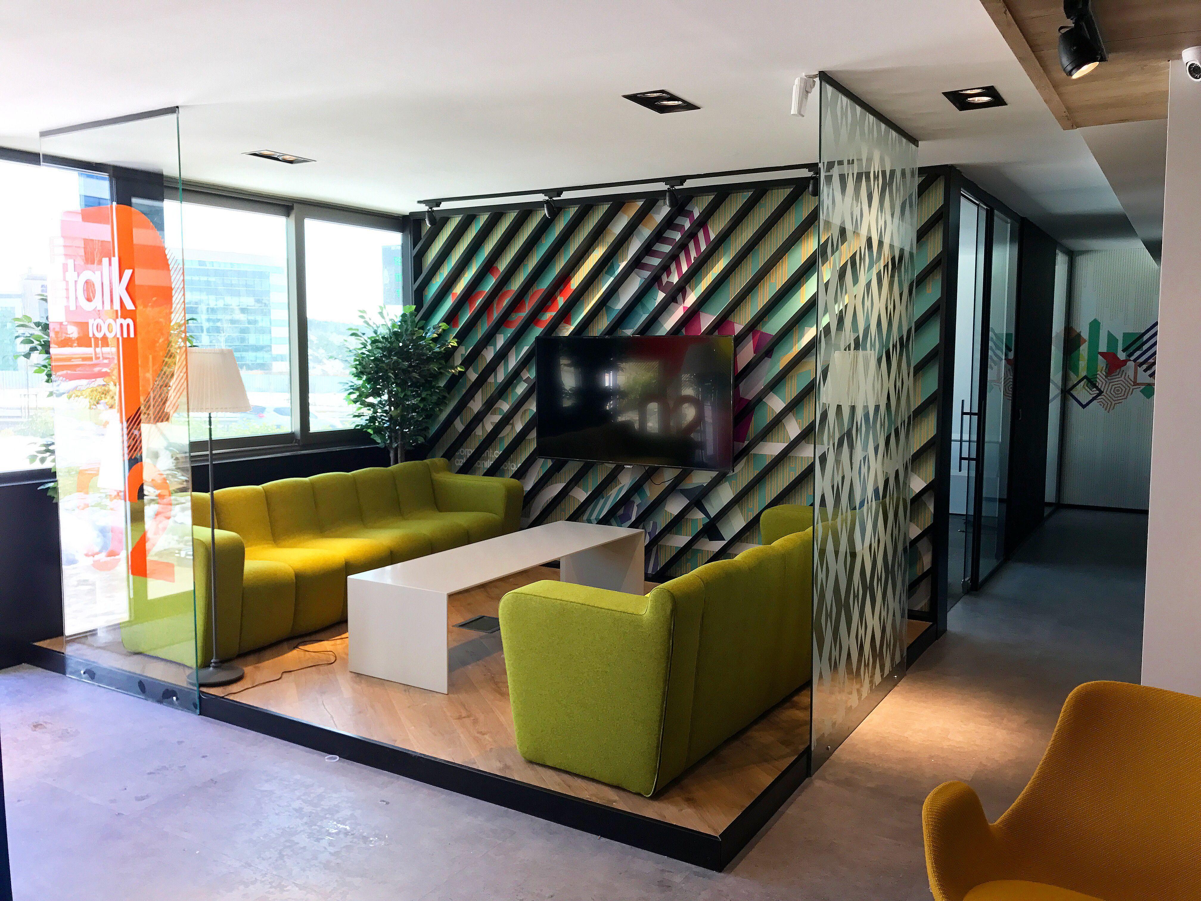 Open Office Talk Room Interior Design By Oa+Design Studio Istanbul