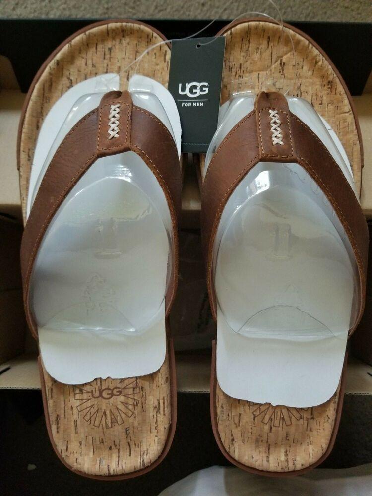 Uggs For Men Flip Flops Sandals Chestnut Size 11 Us 10 Uk Fashion Clothing Shoes Accessories Mensshoes Ebay Link