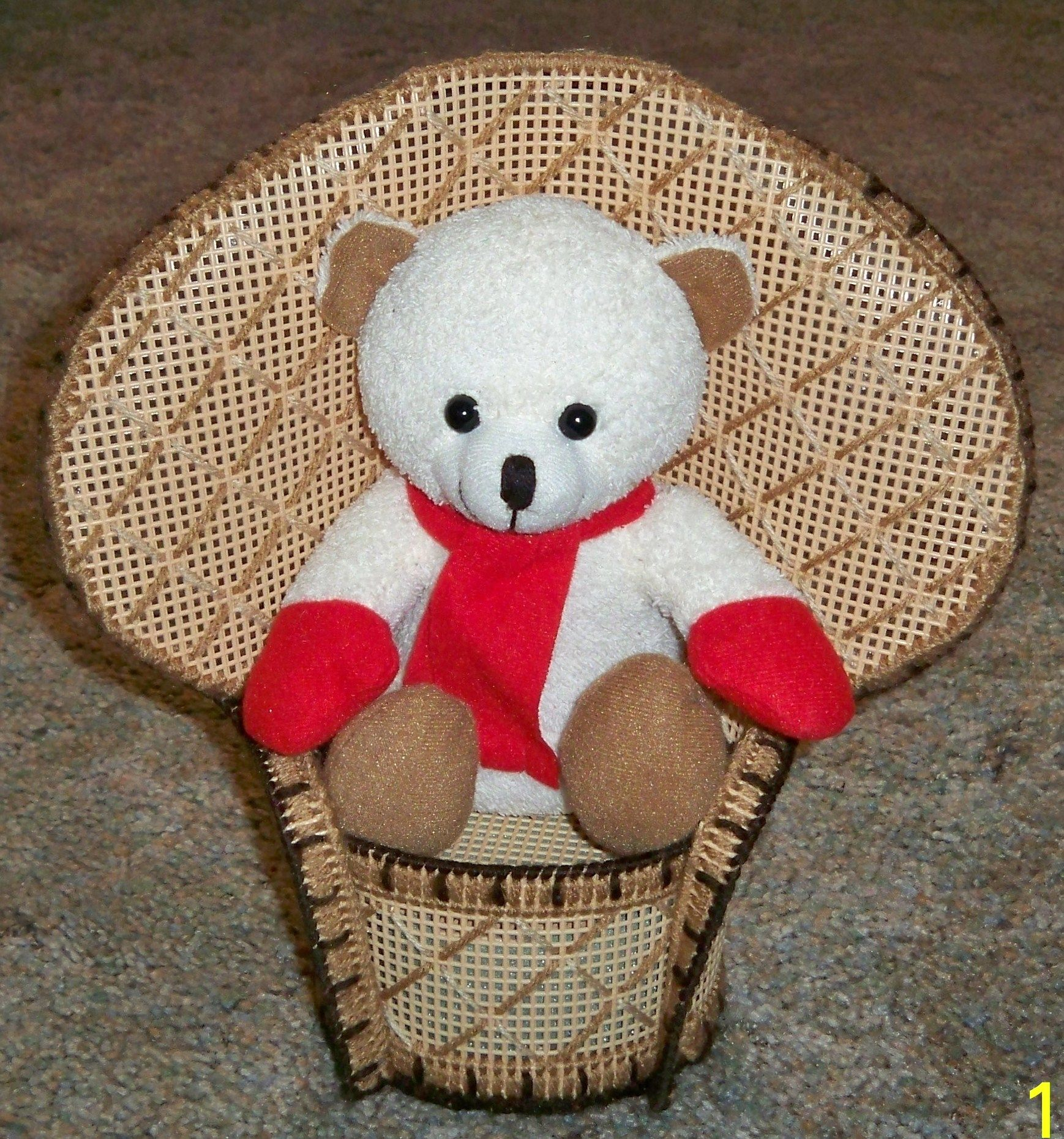 Wicker Chair Teddy Bear Plastic Canvas Patterns Plastic