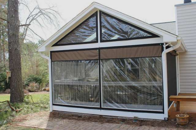 Vinyl Window Coverings For Screened In Porch Weather Proof Your Patio Or Porch Clear Vinyl Plastic Enclosu Porch Curtains Porch Enclosures Patio Enclosures