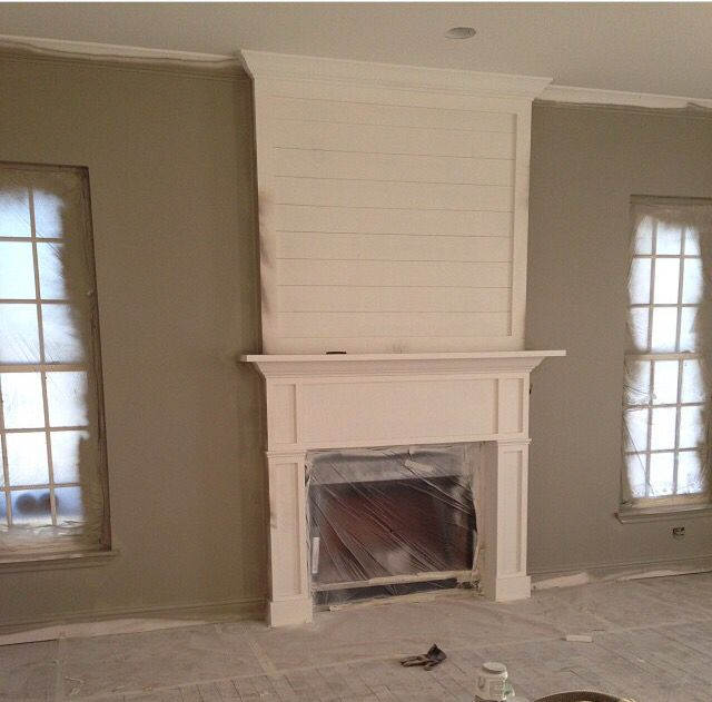 Gorgeous Shiplap Design Ideas For Your Home: Shiplap Fireplace