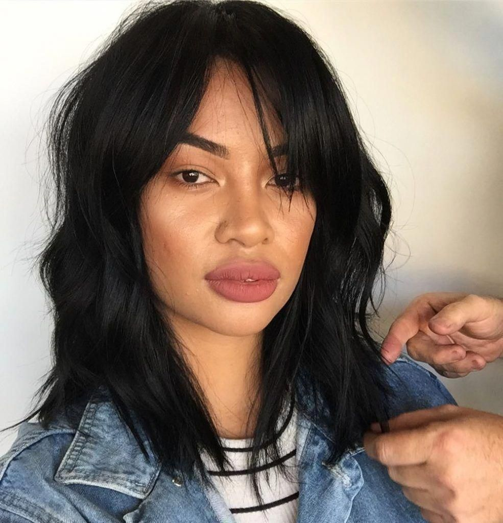 30 Sexiest Wispy Bangs You Need To Try In 2019 Style My Hairs Hairstyles With Bangs Medium Hair Styles Summer Hairstyles