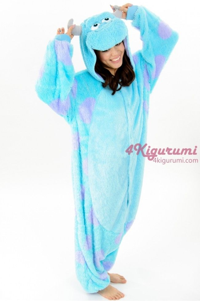 100395589b Monsters Inc. James P. Sullivan(Sulley) Onesie Kigurumi - 4kigurumi.com