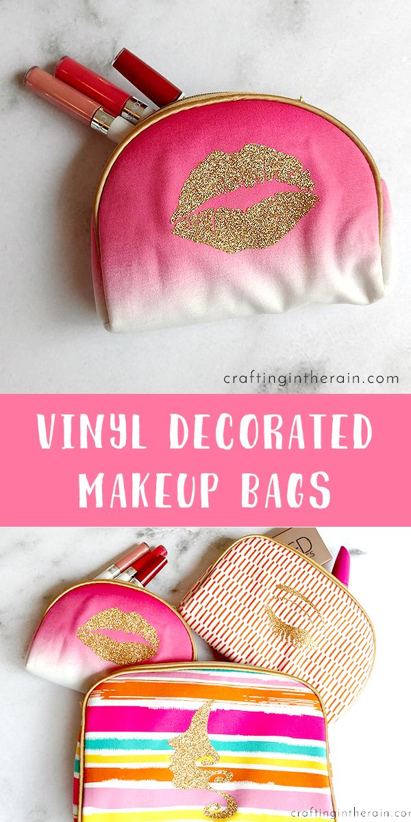 fa551cb28cb3 How to Decorate Makeup Bags with Vinyl