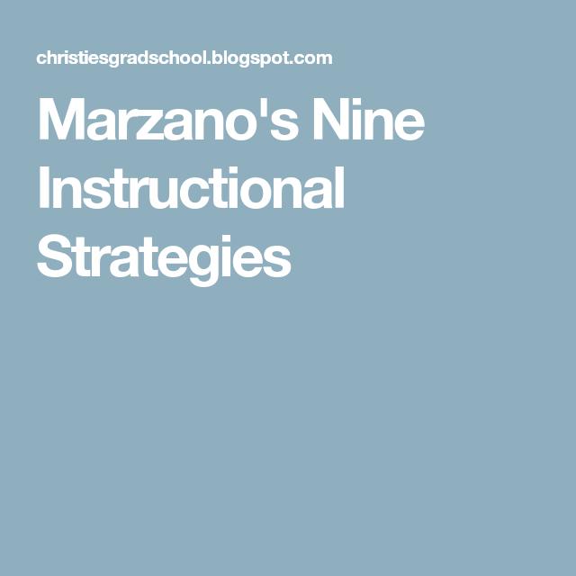 Marzanos Nine Instructional Strategies Immediate Print Out