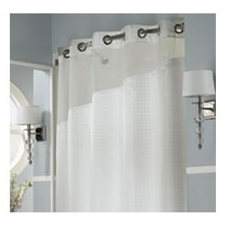 Holiday InnR Refresh HooklessR Shower Curtain And Liner