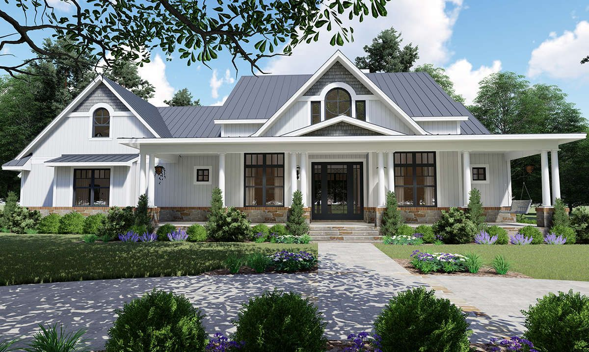 House Plan 9401 00098 Country Plan 2 787 Square Feet 3 Bedrooms 2 5 Bathrooms Farmhouse Style House Craftsman House Plans Farmhouse Style House Plans