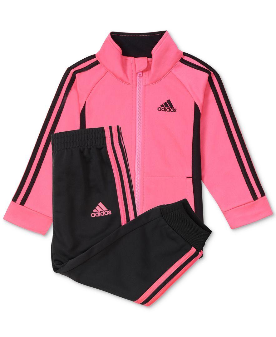 efaf467ed88 Adidas 2-Pc. Tricot Jacket & Jogger Pants Set, Toddler Girls (2T-5T) &  Little Girls (4-6X)