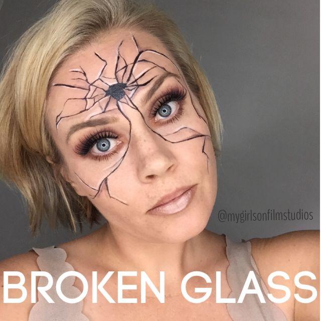 Broken Glass Cracked Face Halloween Makeup By Mgofs Halloween