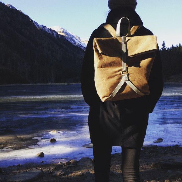 BACKPACK WAXED CANVAS BROWN von igou  auf DaWanda.com
