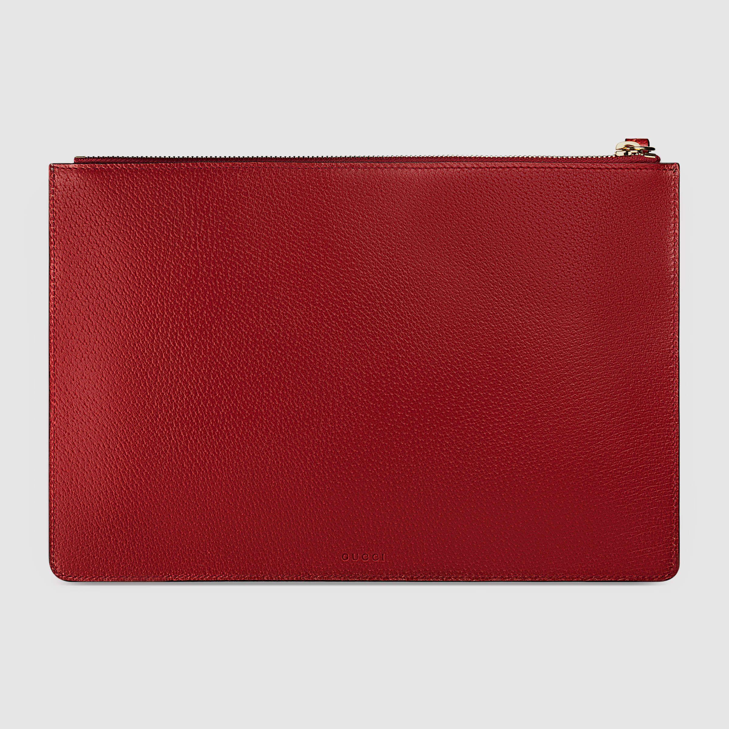 1d33b0039dd Gucci Gucci Tian GG Supreme zip pouch Detail 3