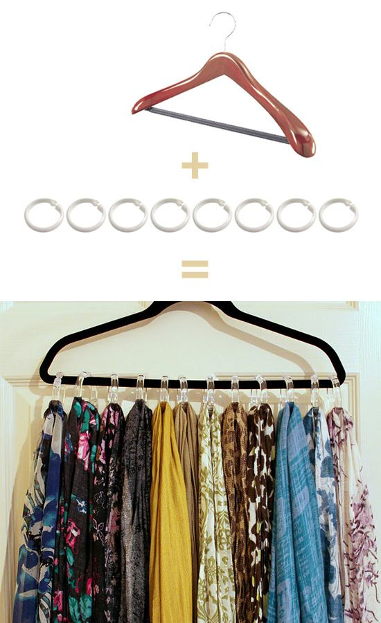 Percha para pa uelos y bufandas trucos caseros y for Porta ganchos de ropa