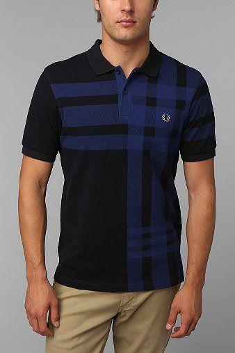 Fred Perry Tartan Plaid Polo Shirt
